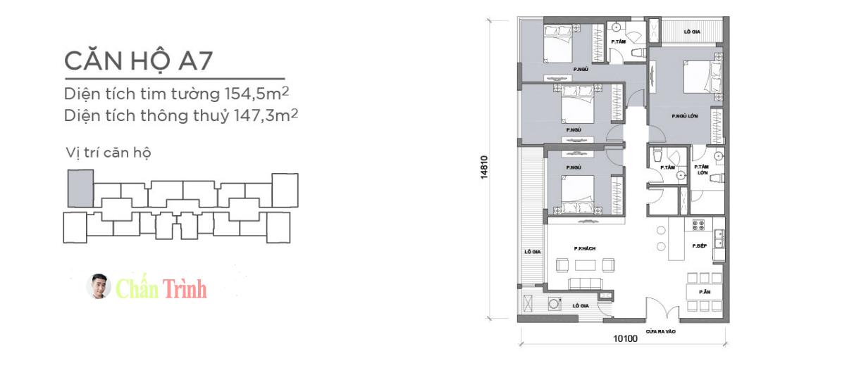 Thiết kế căn hộ 4PN Park 6 Vinhomes Central Park