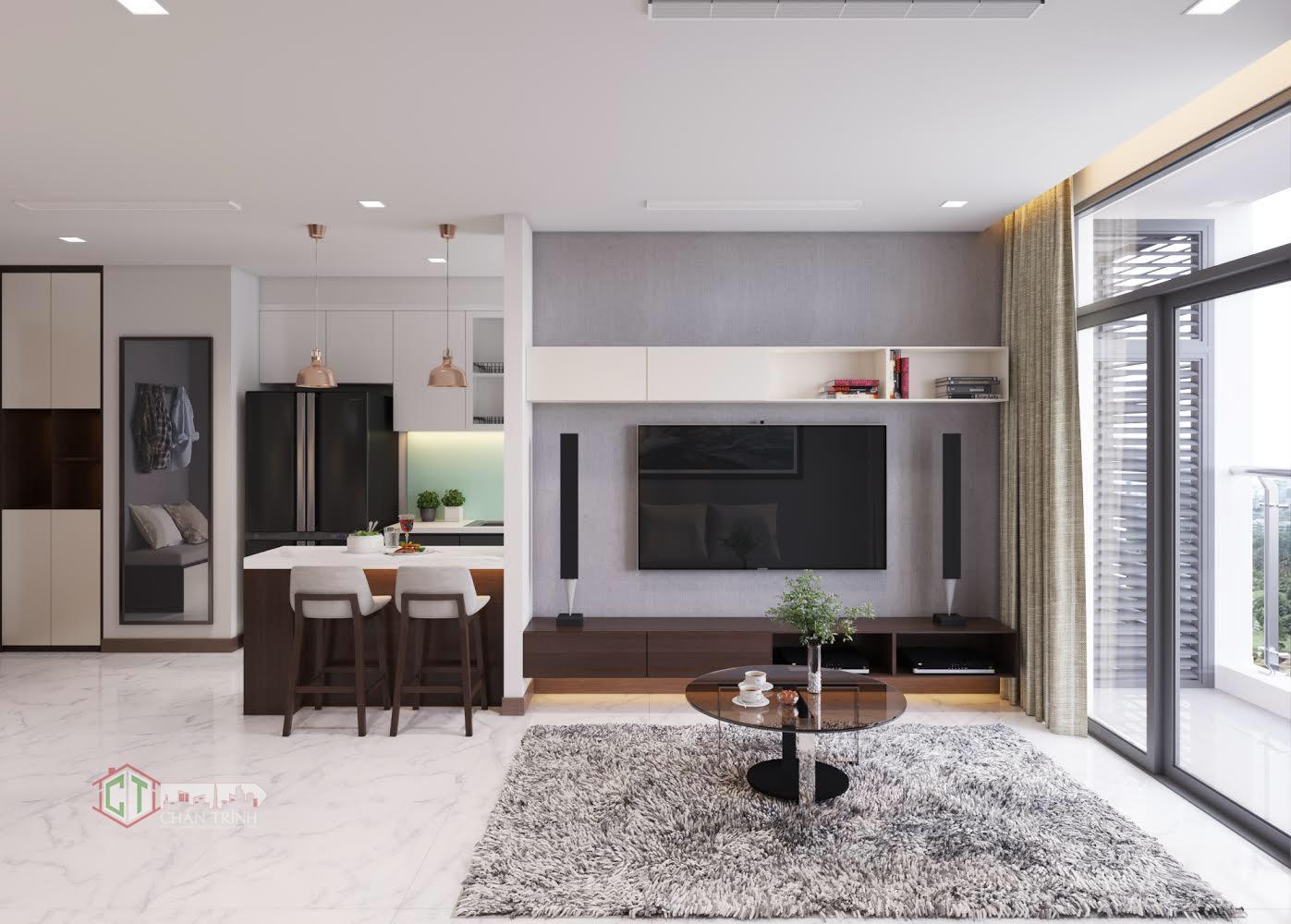 Hình ảnh căn hộ Vinhomes Central Park - Phòng khách