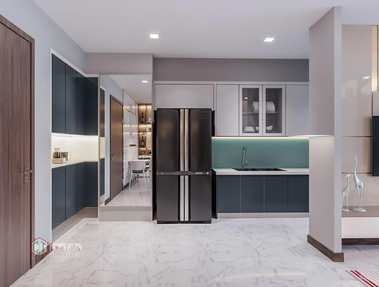 Hình ảnh căn hộ Vinhomes Central Park - Phòng bếp