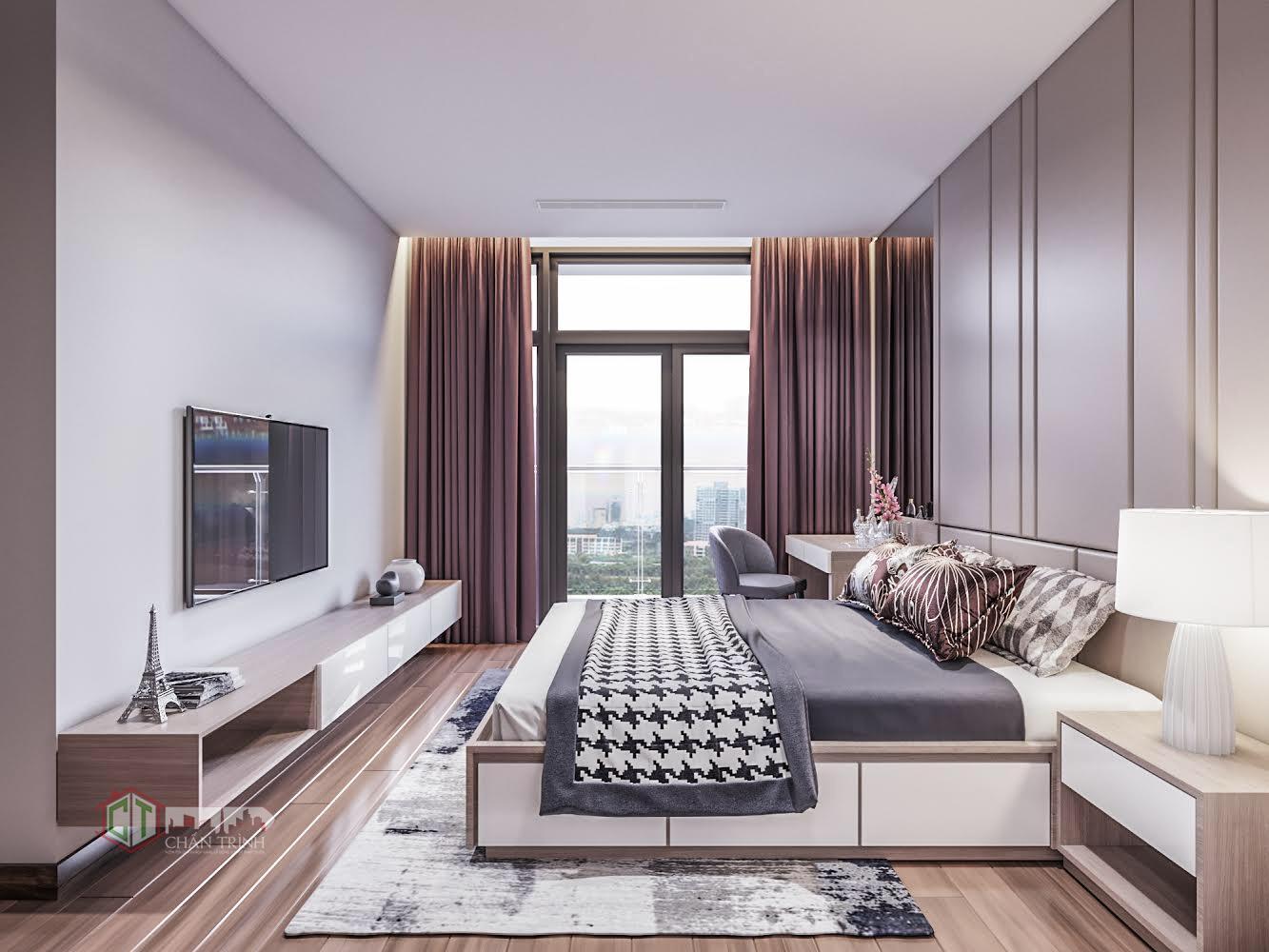 Hình ảnh căn hộ Vinhomes Central Park - Phòng Master có ban công riêng