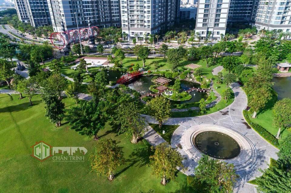 Mảng xanh ngắt tại công viên 14ha
