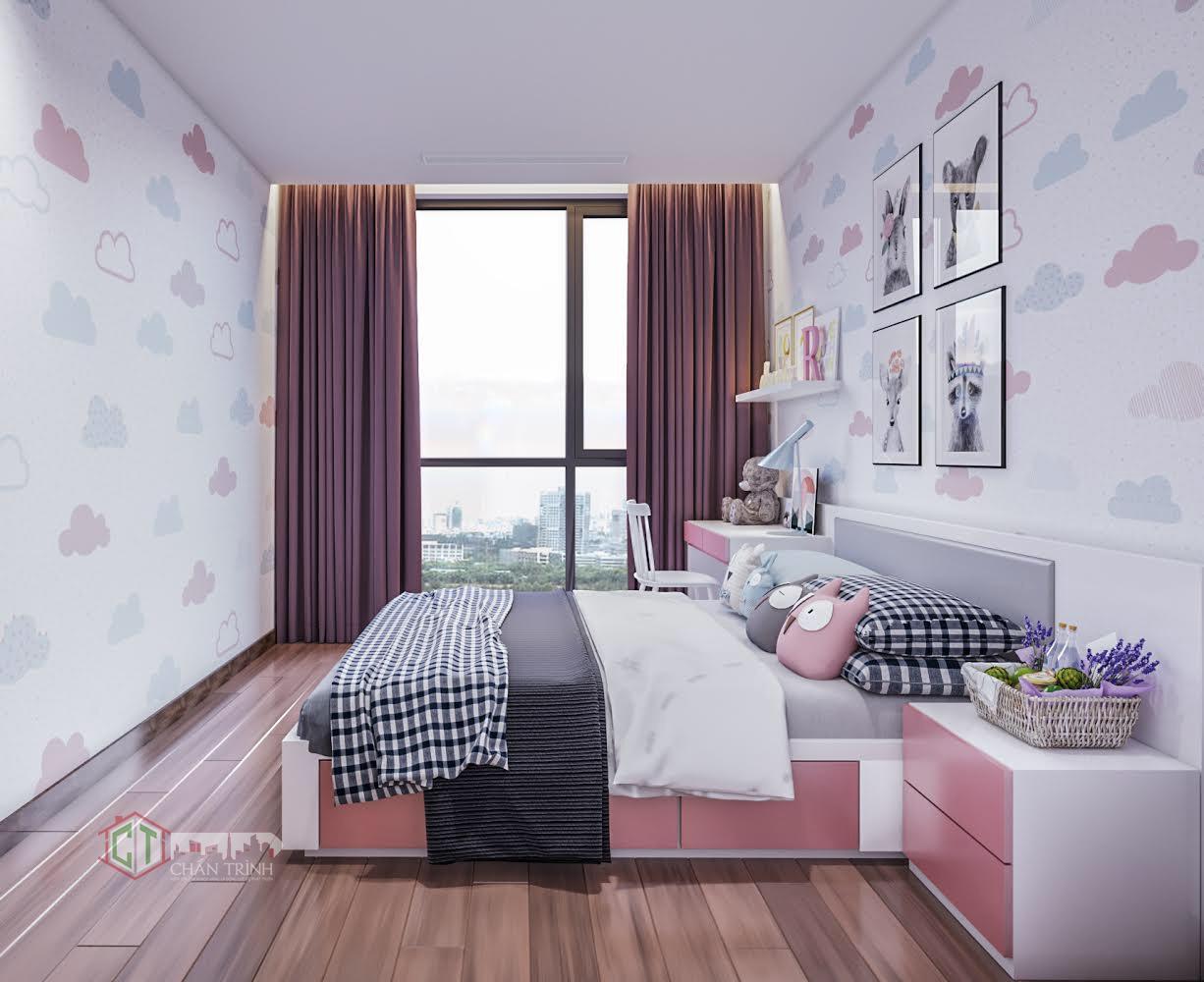 Hình ảnh căn hộ 2 phòng ngủ Vinhomes Central Park - Phòng ngủ 2
