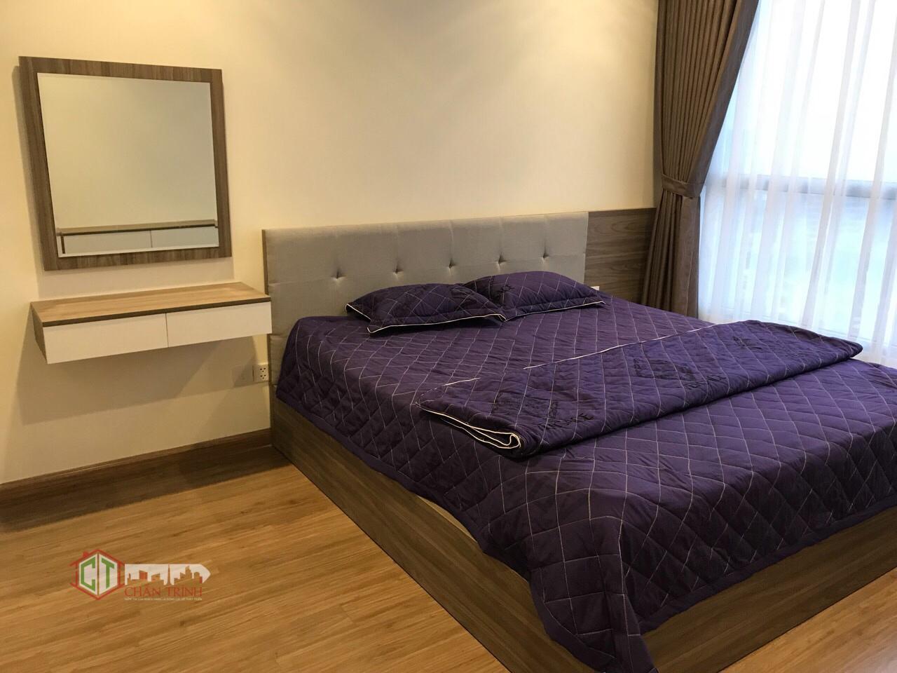Phòng ngủ lớn căn hộ 3 phòng ngủ Vinhomes Central Park