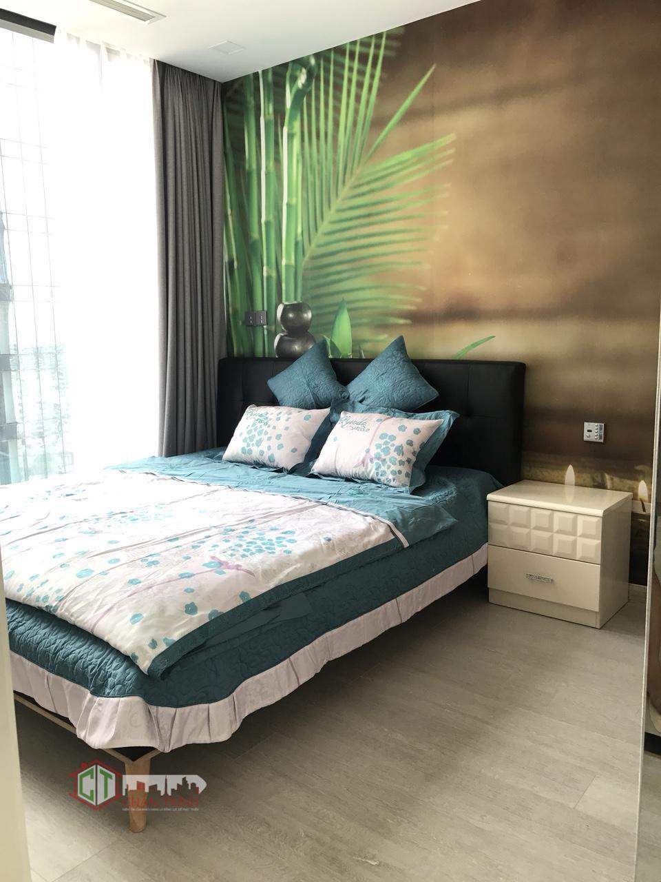 Khu vực phòng ngủ căn hộ 1 phòng vinhomes golden river