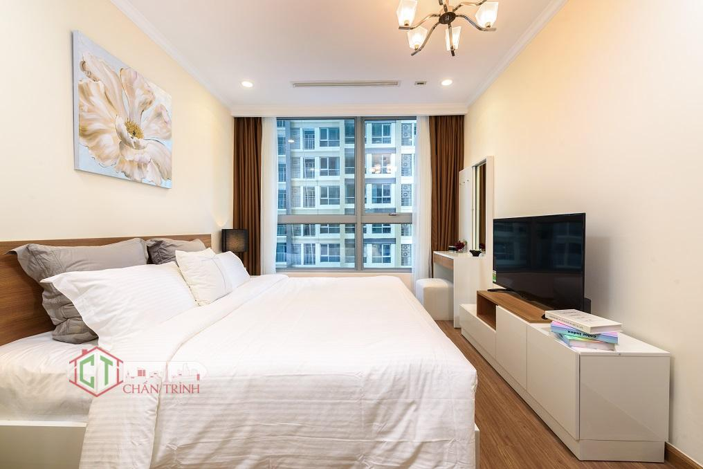 Phòng ngủ nhỏ cho mẫu thiết kế 02 phòng ngủ Vinhomes Central Park cho thuê