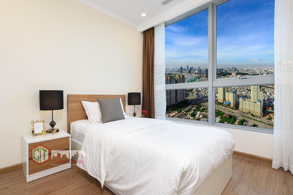 Thiết kế phòng ngủ 02 tại Landmark Plus cho thuê - Vinhomes Central Park