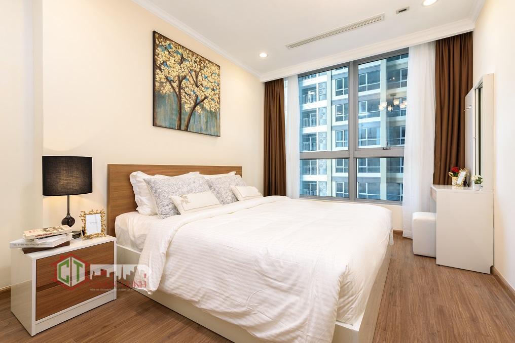 Phòng ngủ mẫu căn hộ 1 phòng ngủ Landmark Plus - Vinhomes Central Park