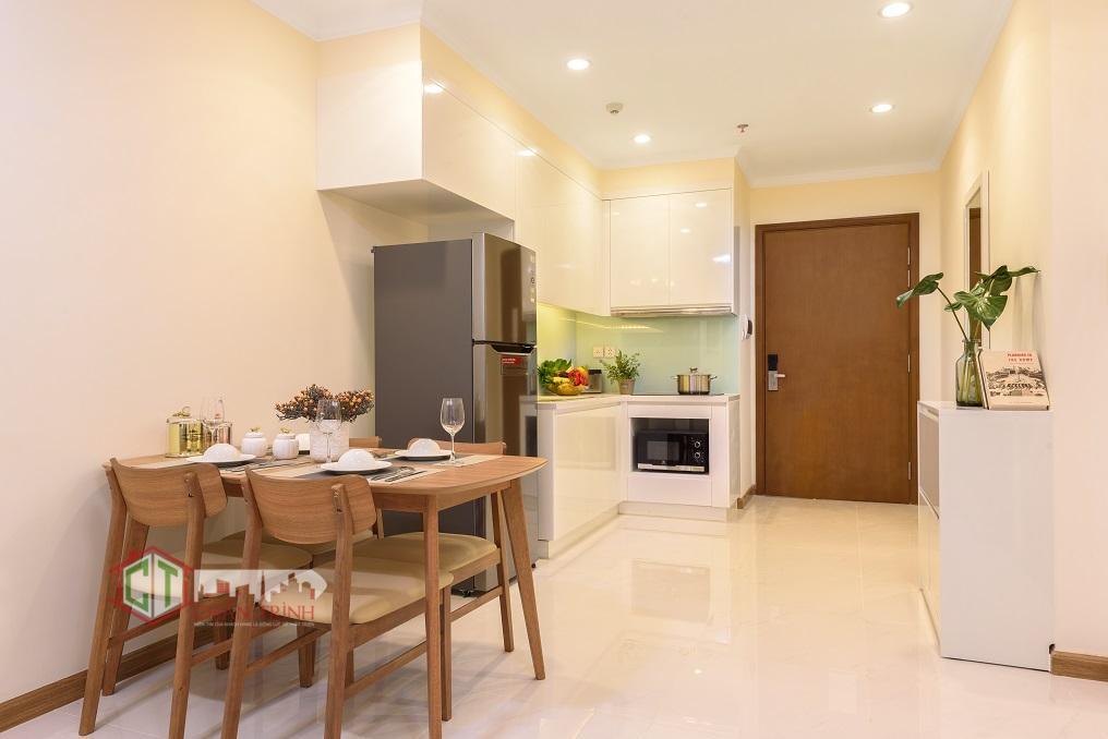 Phòng khách mẫu căn hộ 1 phòng ngủ Landmark Plus - Vinhomes Central Park