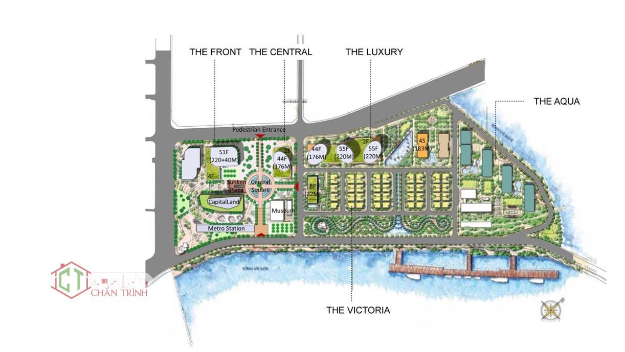 Mặt bằng mới của dự án Vinhomes Golden River