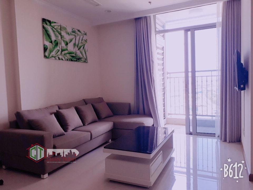 Sofa phòng khách căn hộ 1 phòng ngủ cho thuê tại Vinhomes Central Park