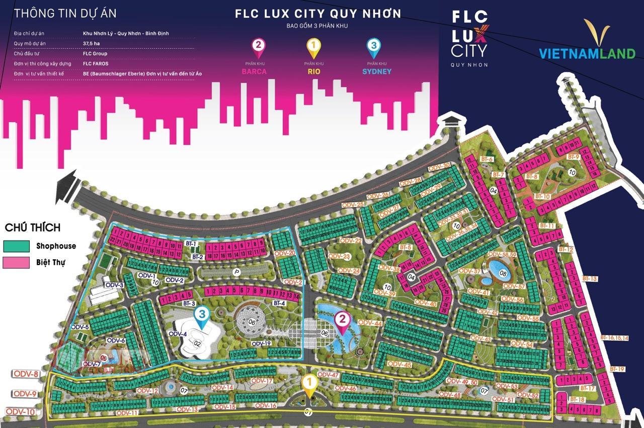 FLC Lux City Quy Nhơn hàng chuyển nhượng F2 - Mặt bằng tổng
