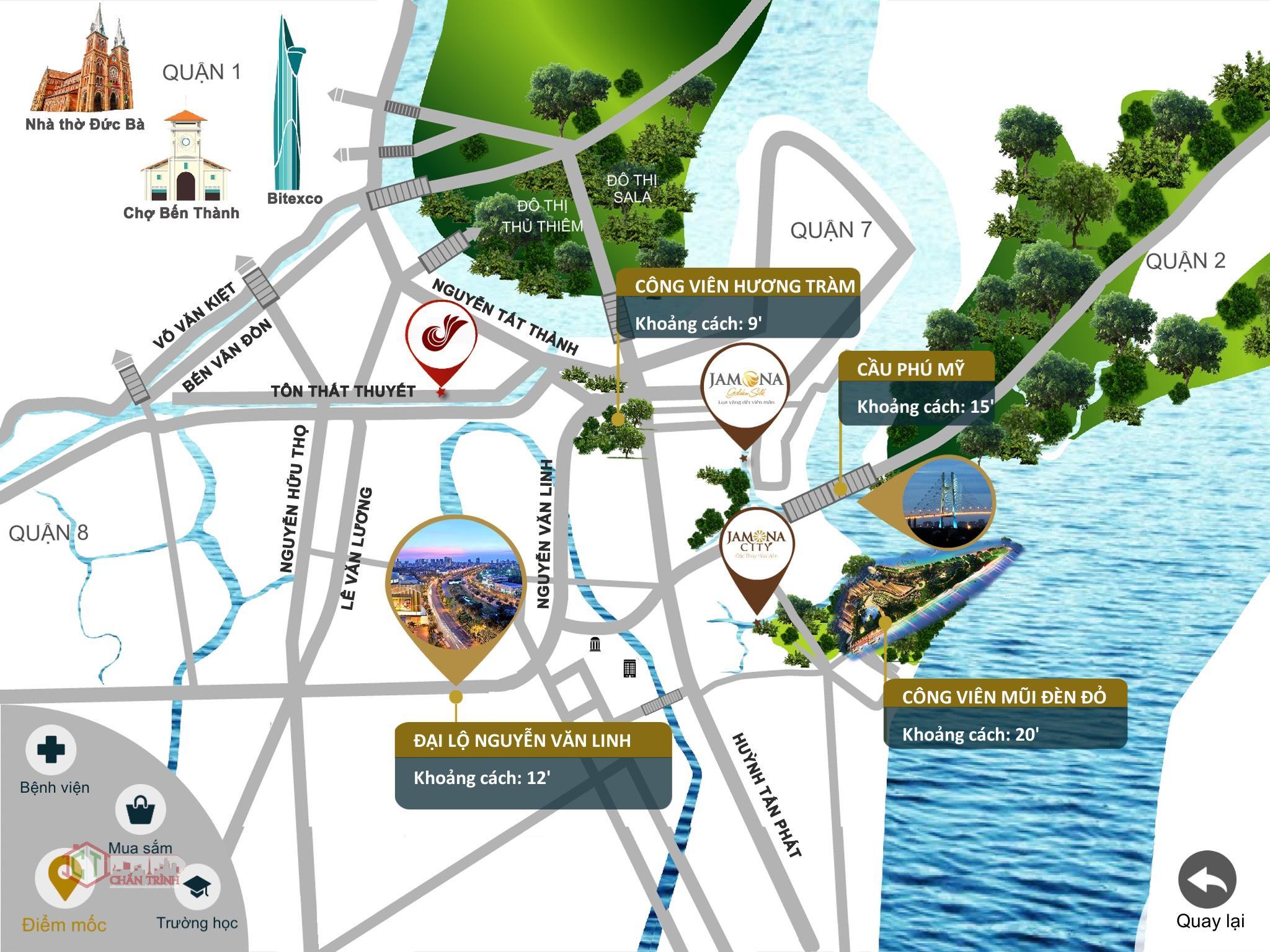 Vị trí dự án Charmington Iris Quận 4 - Chantrinh.net