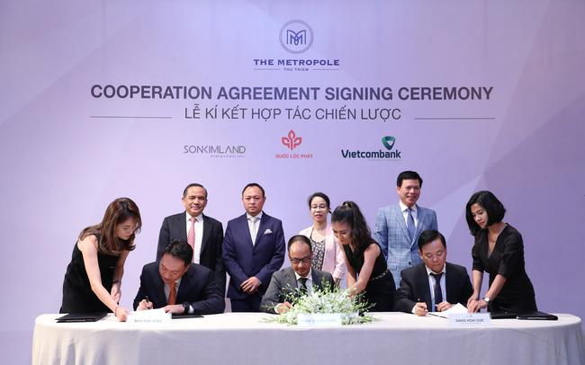 Lễ ký kết đối tác chiến lược giữa Quốc Lộc Phát, Sơn Kim Land & Vietcombank