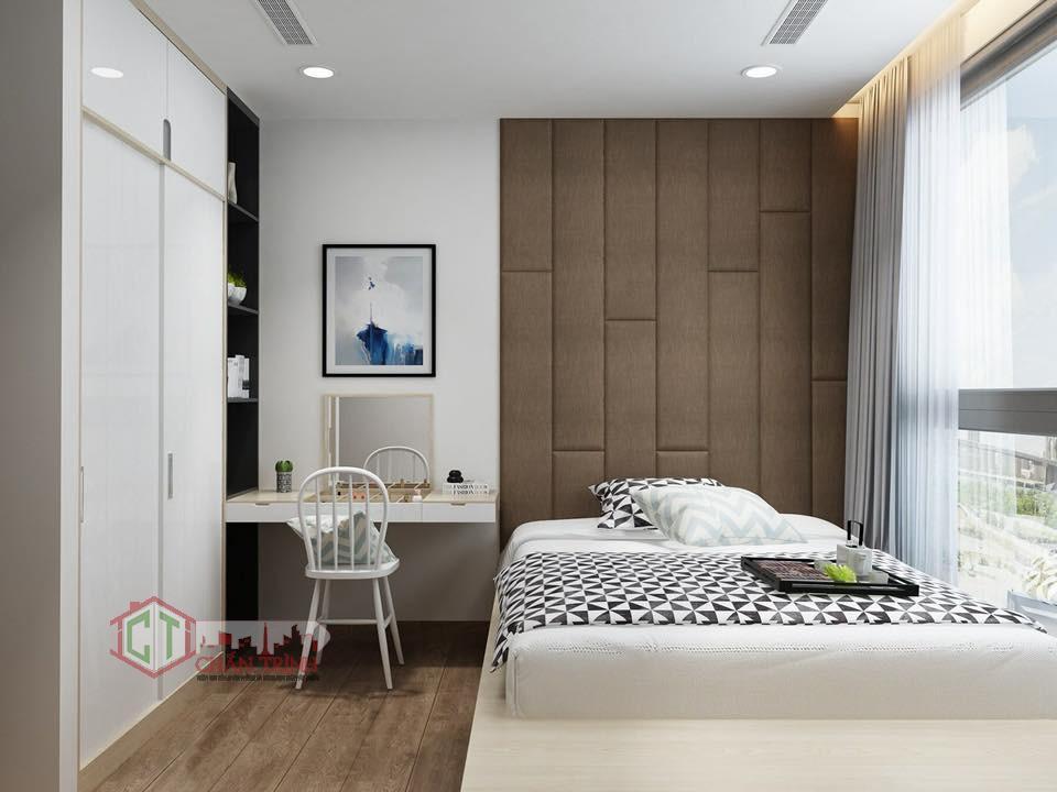 Không gian bố trí tại phòng ngủ 2 căn hộ 3 phòng ngủ Vinhomes Central Park