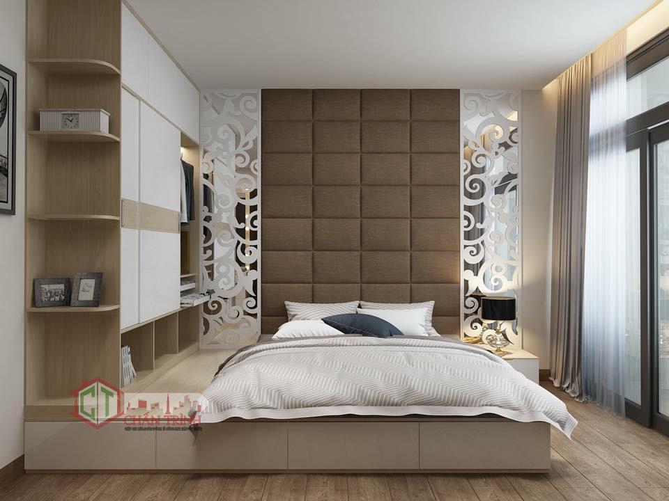 Không gian bố trí tại phòng ngủ căn hộ 3 phòng ngủ Vinhomes Central Park