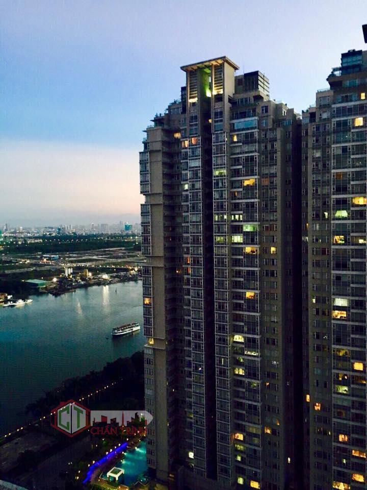 View nhìn từ căn hộ 1 phòng ngủ Vinhomes Central Park