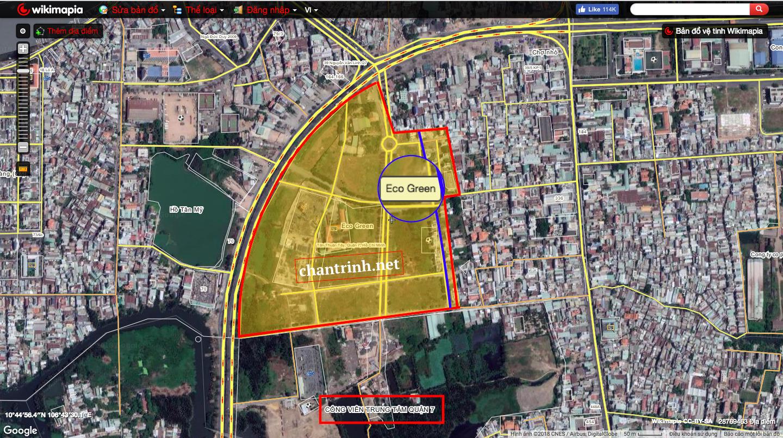 Vị trí trên Maps của dự án Eco Green Quận 7