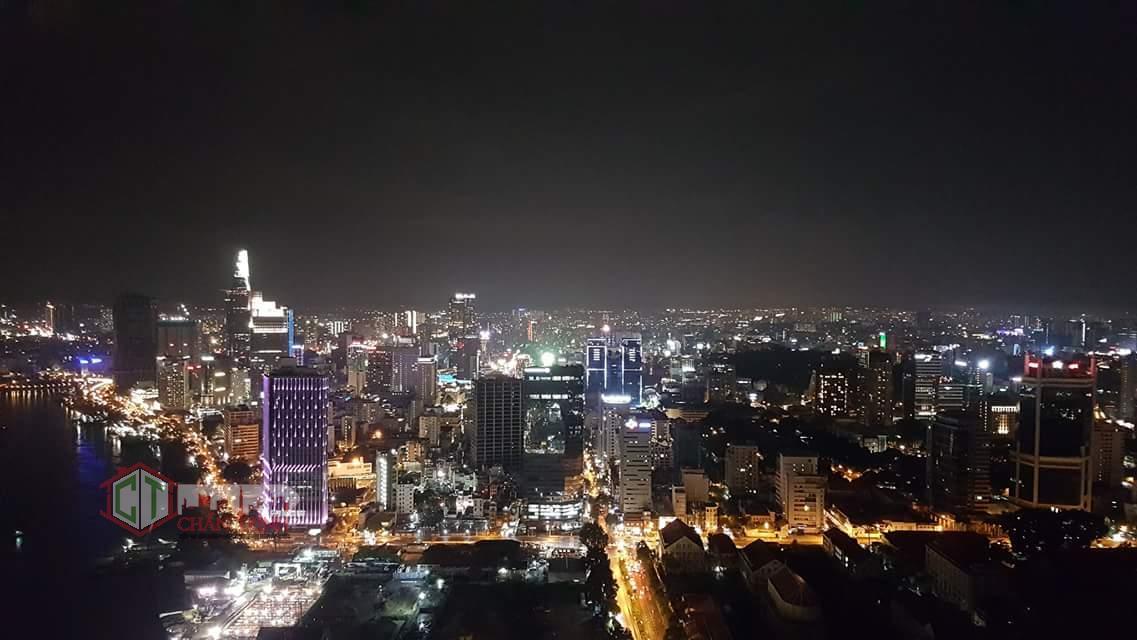View chụp thực tế căn hộ vào ban đêm - Vinhomes Ba Son