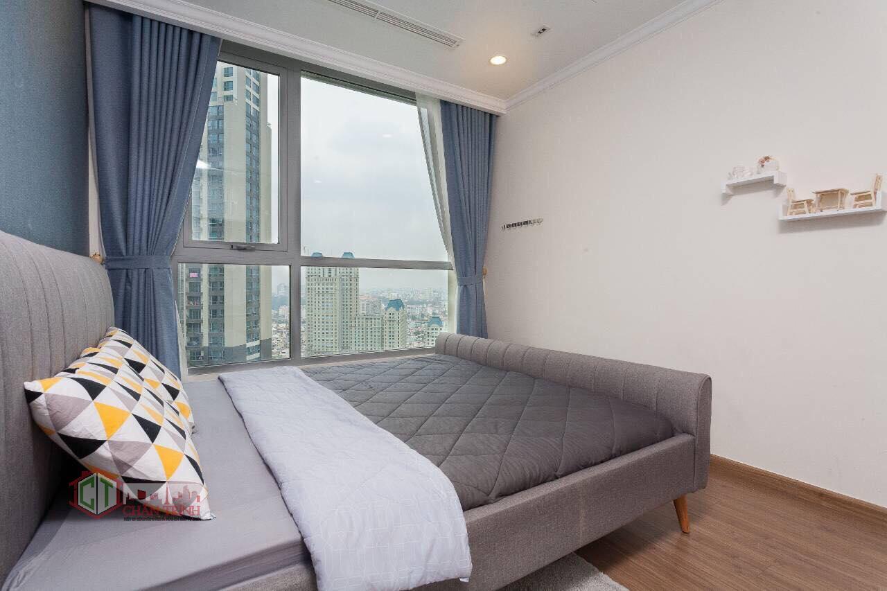 Phòng ngủ căn 1 phòng ngủ landmark 2 vinhomes central park - hình thực tế.