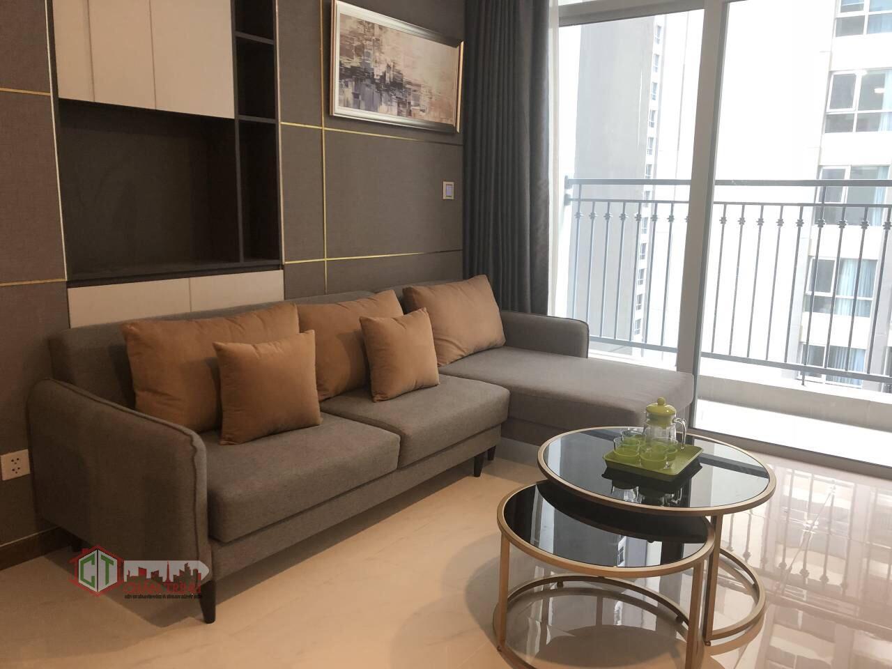 Phòng khách căn hộ 2 phòng ngủ L6 - Vinhomes Central Park