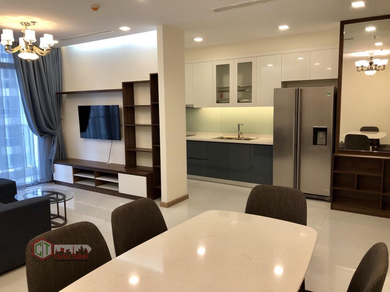 Phòng khách + bếp căn hộ 2 phòng ngủ - Park 3 Vinhomes Central Park