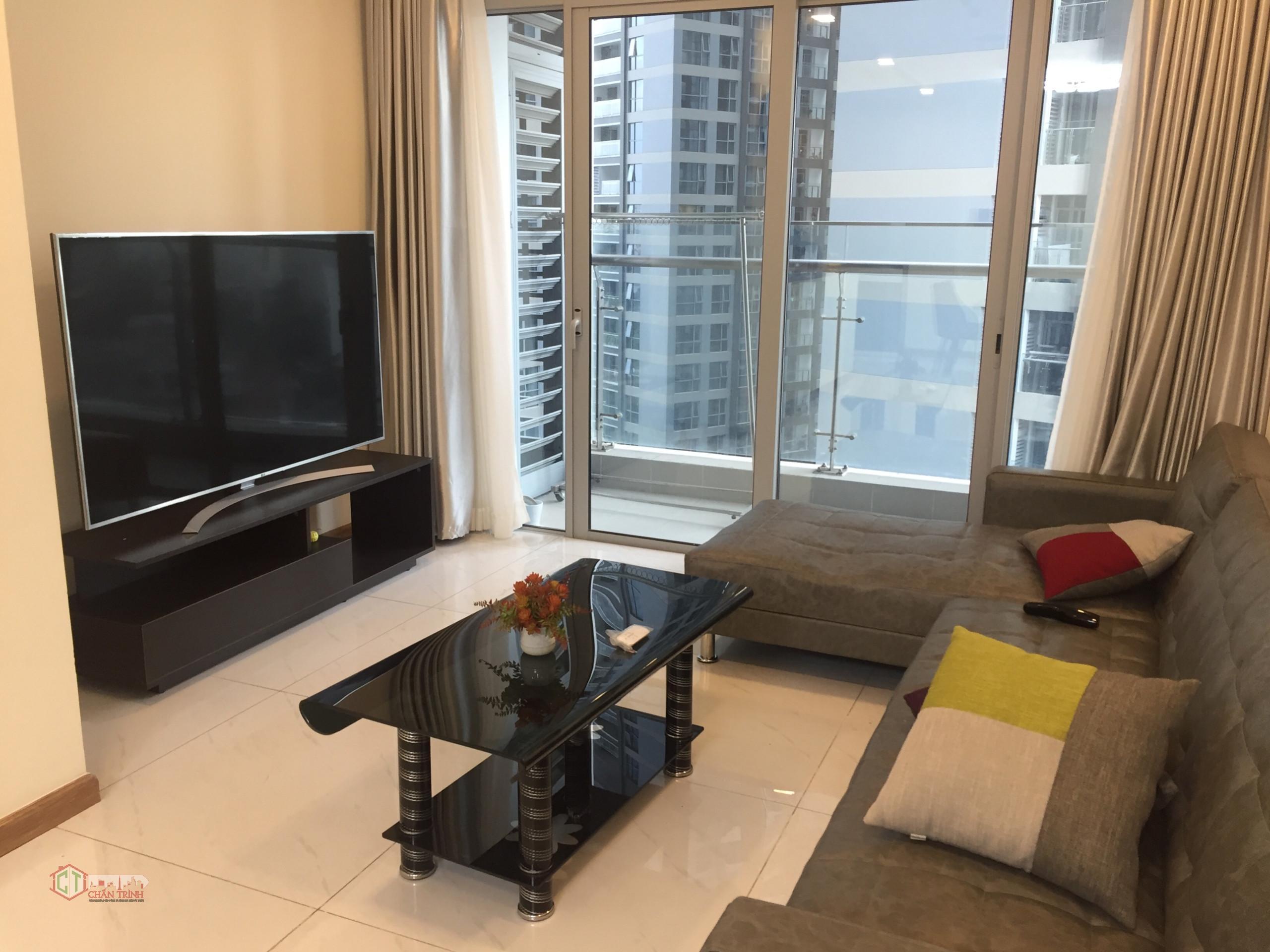 Phòng khách căn hộ 3PN cho thuê tòa Park 6