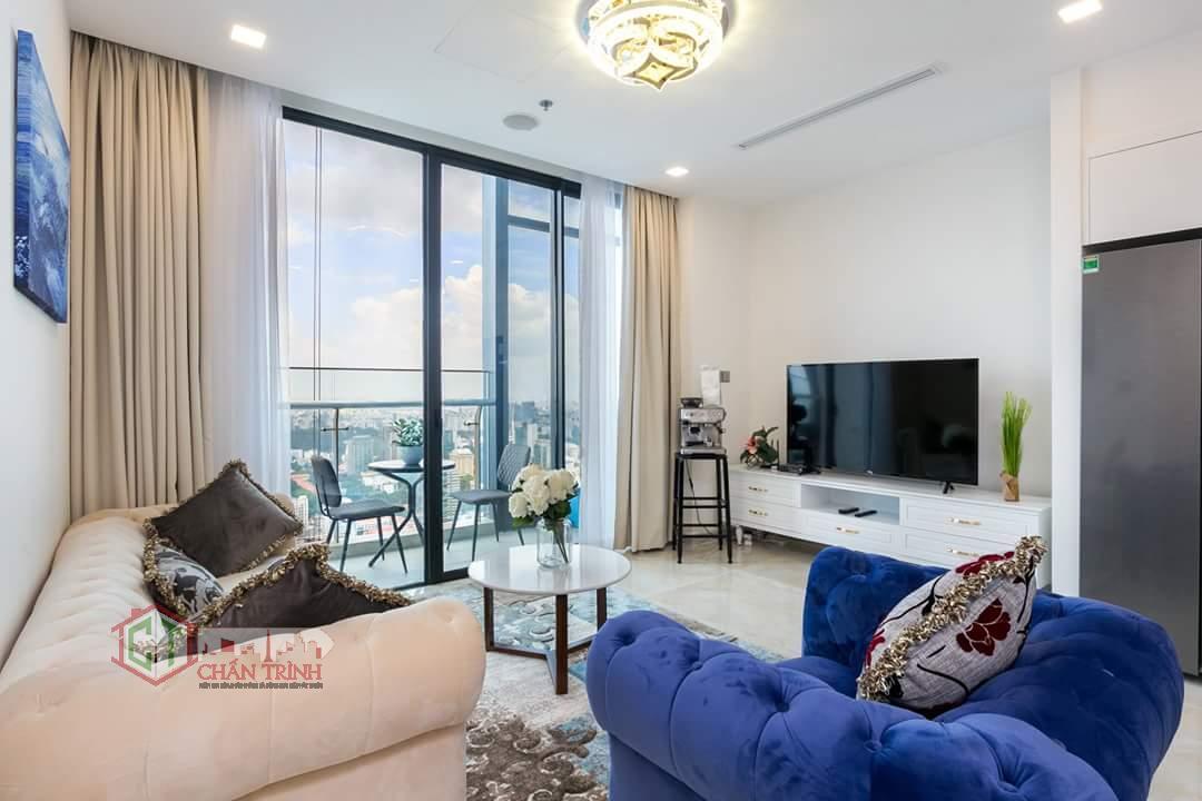 Hình chụp thực tế phòng khách căn hộ 2 phòng ngủ - Vinhomes Ba Son