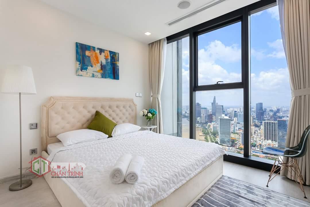 Hình chụp thực tế phòng ngủ căn hộ 2 phòng ngủ Vinhomes Golden River