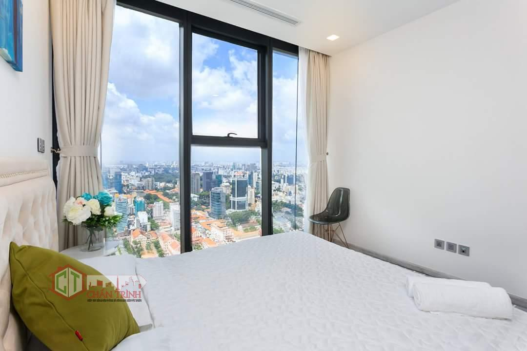 Hình chụp thực tế phòng ngủ căn hộ 2 phòng ngủ Vinhomes Ba Son
