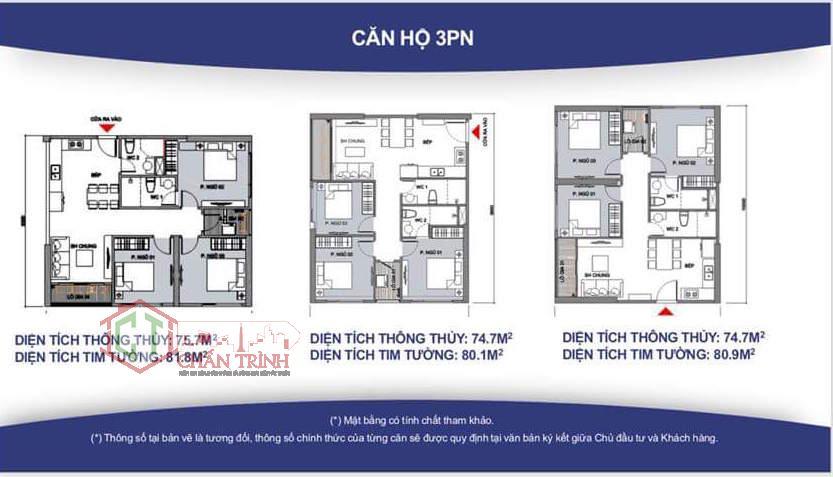 Thiết kế căn hộ Vincity 3 phòng ngủ