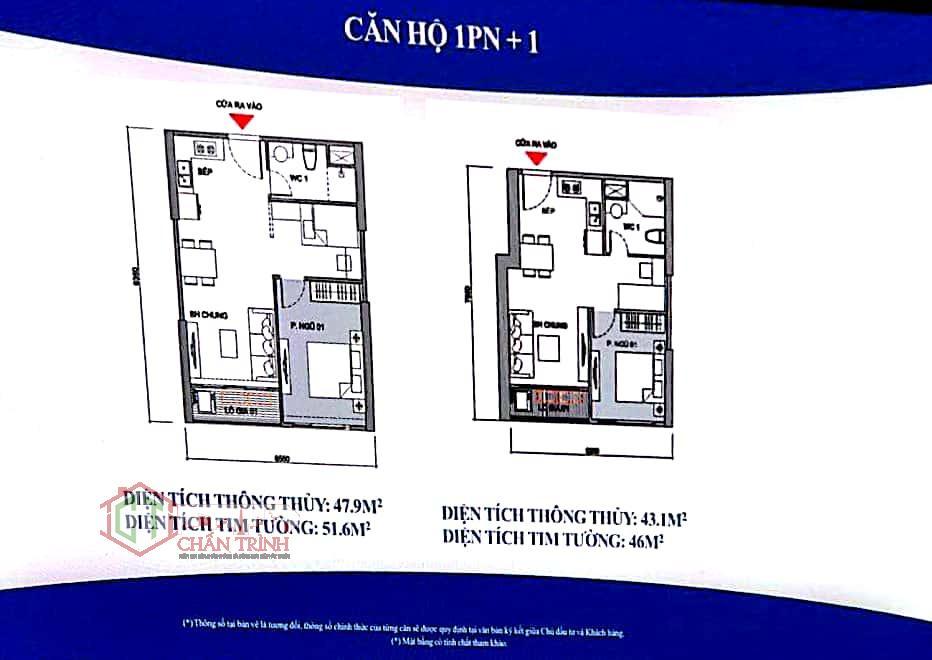 Thiết kế căn hộ 1 phòng ngủ + 1 dự án Vincity Ocean Park Gia Lâm