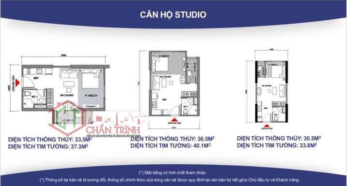 Thiết kế căn hộ Studio dự án Vincity.