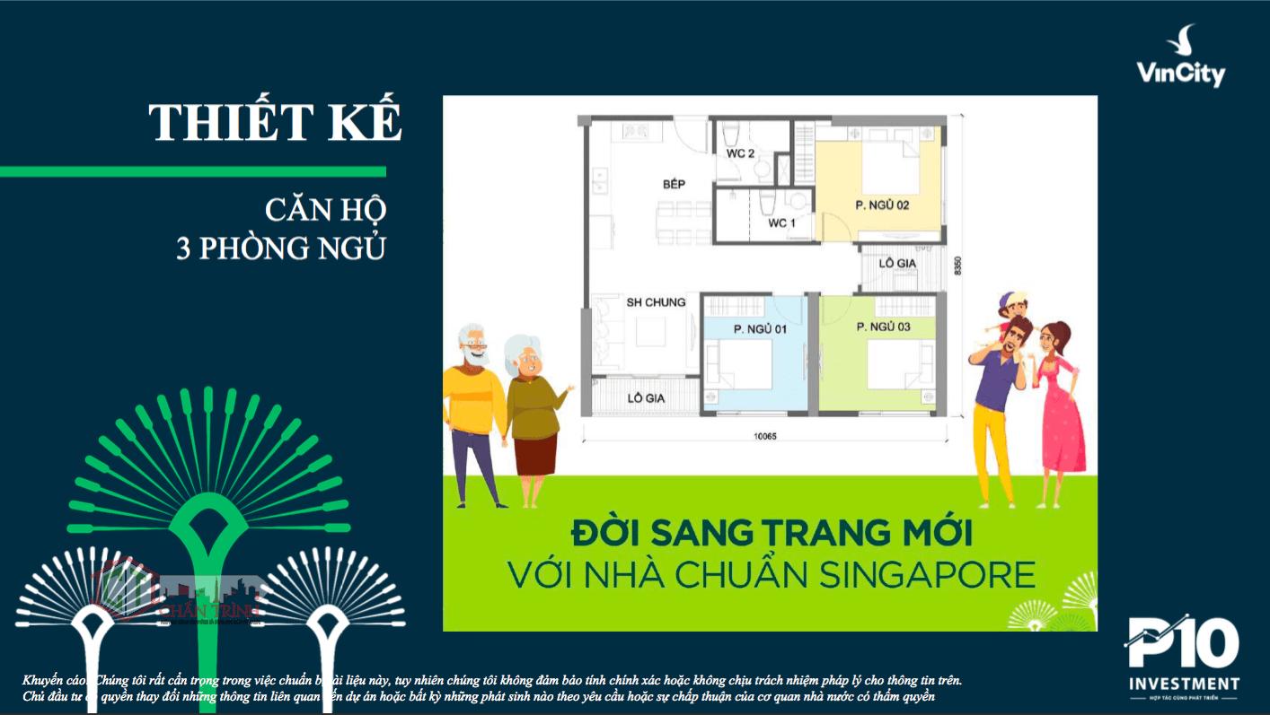 Thiết kế căn hộ mẫu 3 Phòng Ngủ tại dự án Vinhomes Grand Park