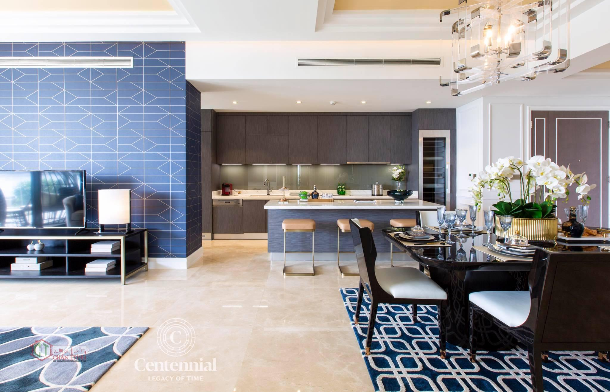 Không gian phòng bếp của căn hộ Centennial Ba Son