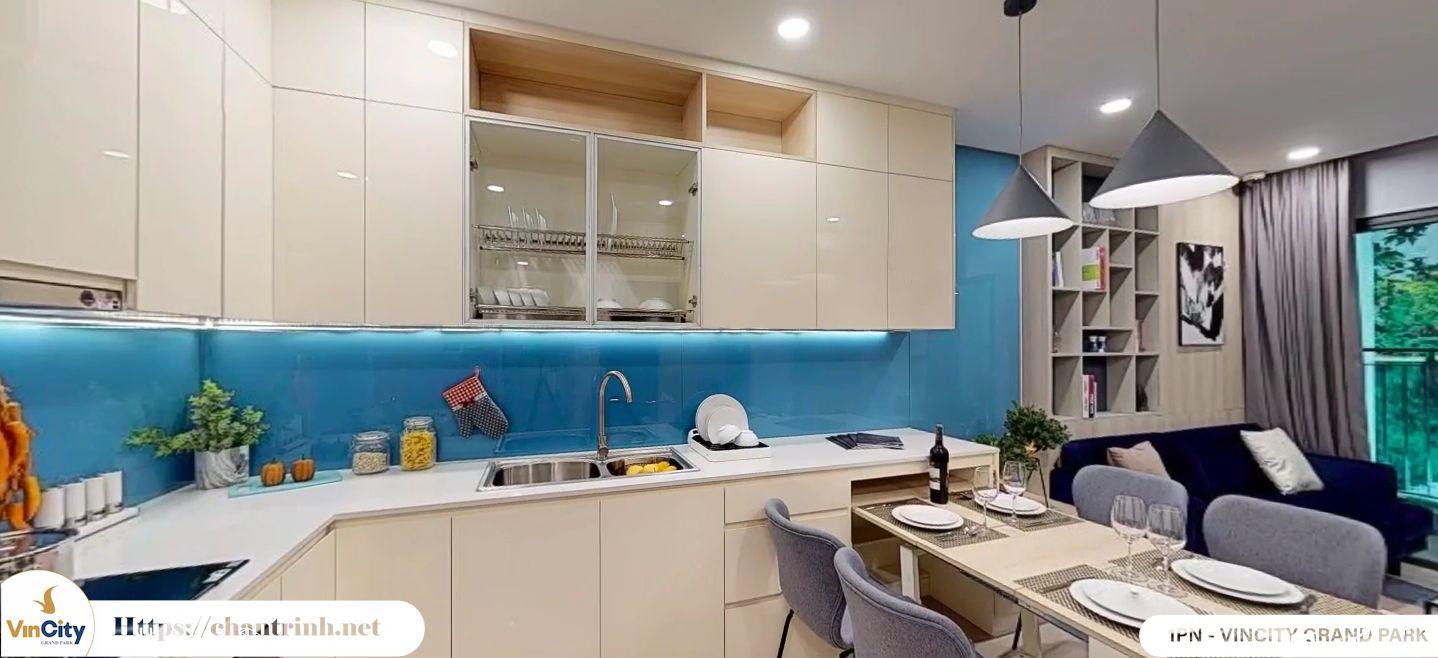 Phòng bếp căn hộ 1 phòng ngủ Vinhomes Grand Park