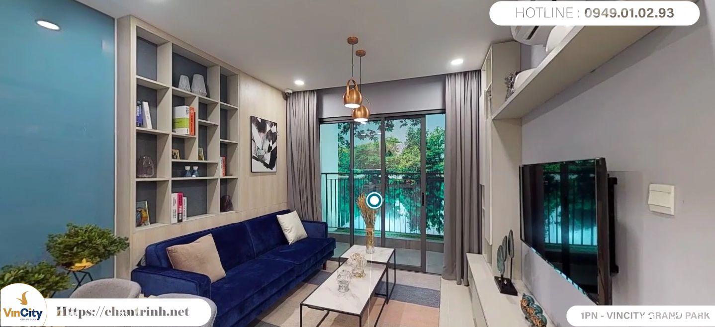 Phòng khách căn hộ 1 phòng ngủ Vinhomes Grand Park