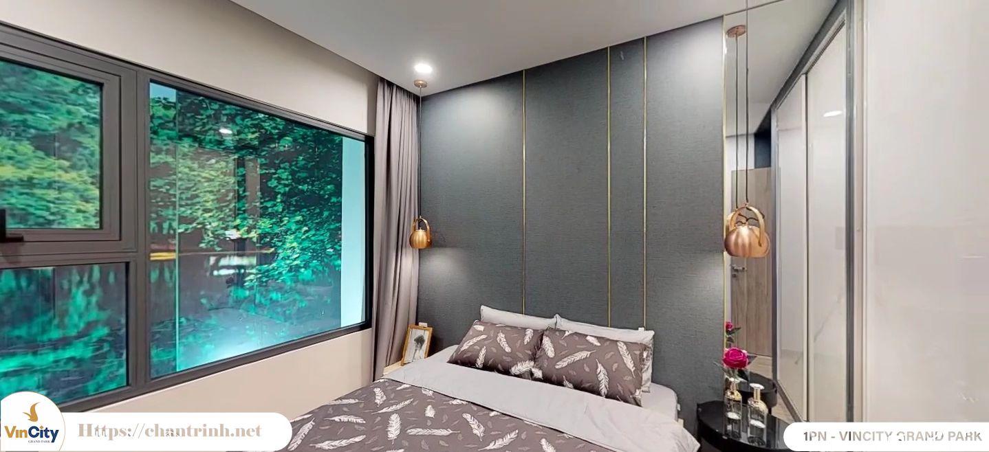 Phòng ngủ căn hộ 1 phòng ngủ Vincity
