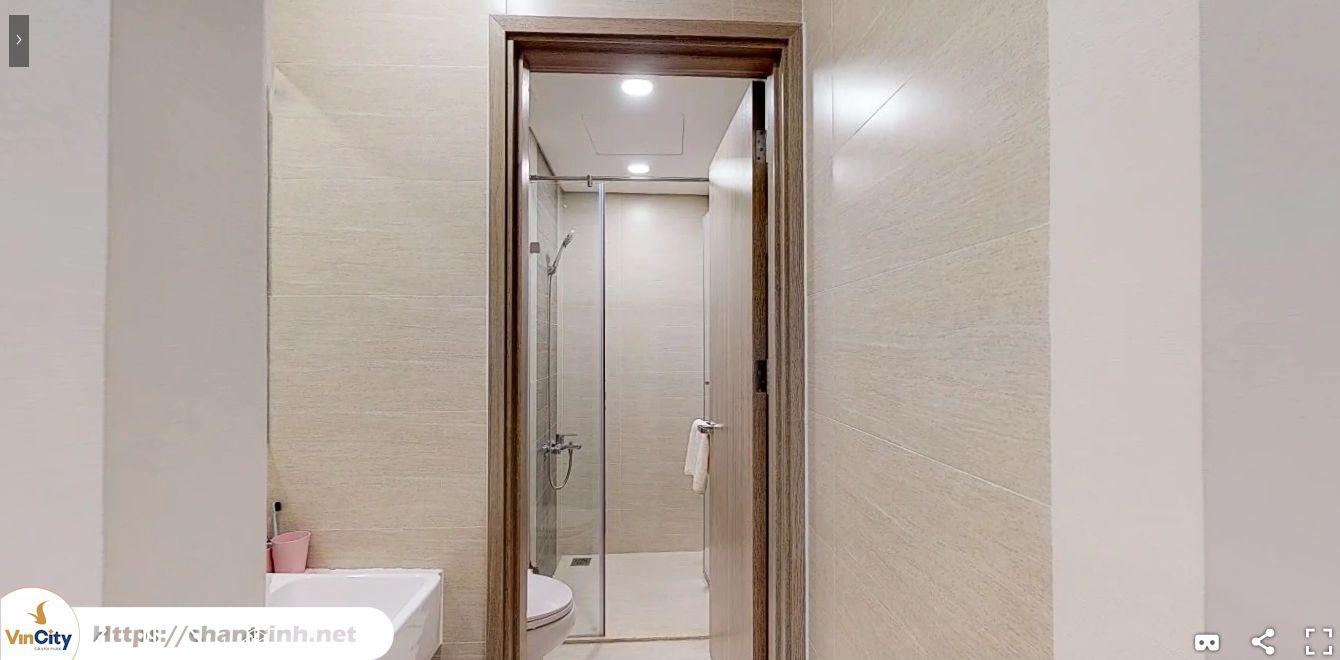 Nhà vệ sinh của căn hộ 2 phòng ngủ Vinhomes Quận 9