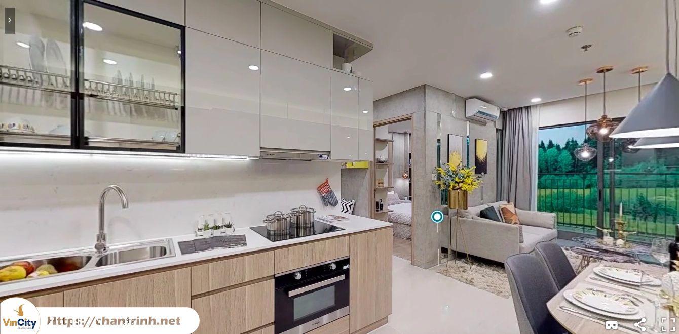 Phòng bếp căn hộ 2 phòng ngủ Vinhomes Grand Park Quận 9