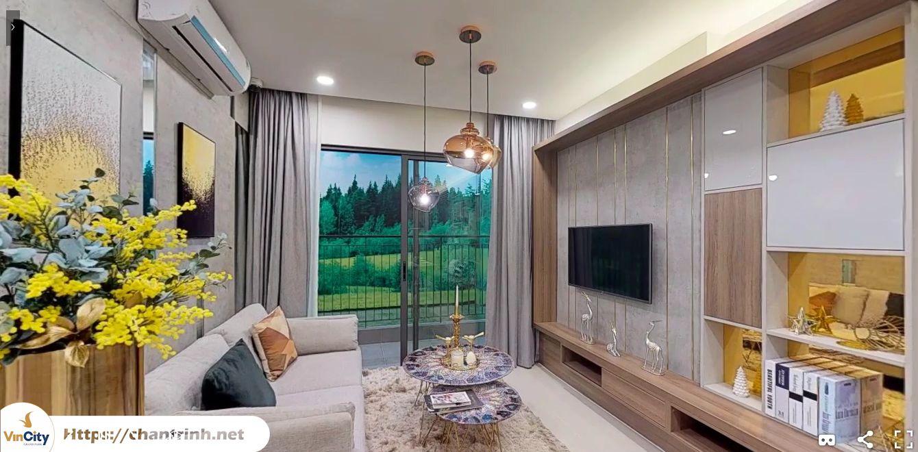 Khu phòng khách căn hộ 2 phòng ngủ Vinhomes Grand Park Quận 9