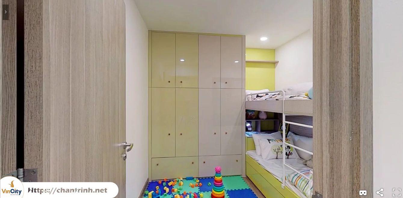 Phòng ngủ nhỏ của căn hộ 2 phòng ngủ vincity