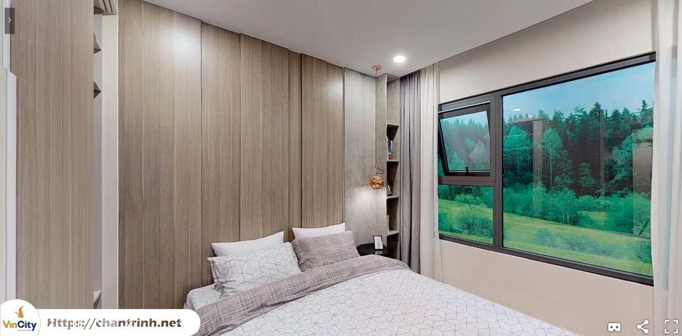 Phòng ngủ lớn của căn hộ 2 phòng ngủ Vinhomes Grand Park Quận 9