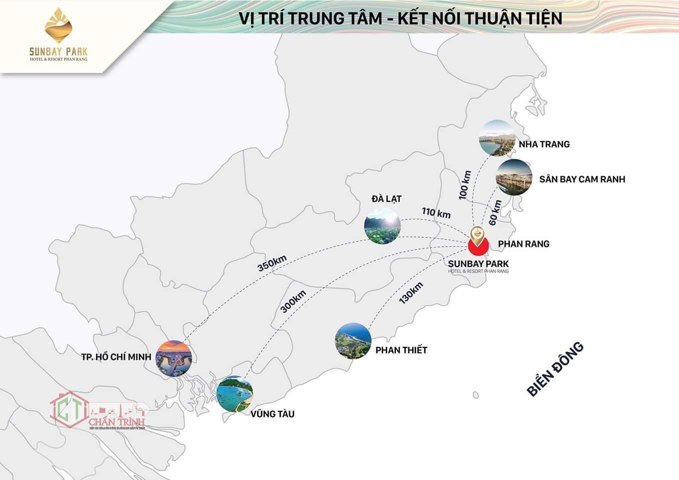 Vị trí Sunbay Park Hotel & Resort Phan Rang Ninh Thuận