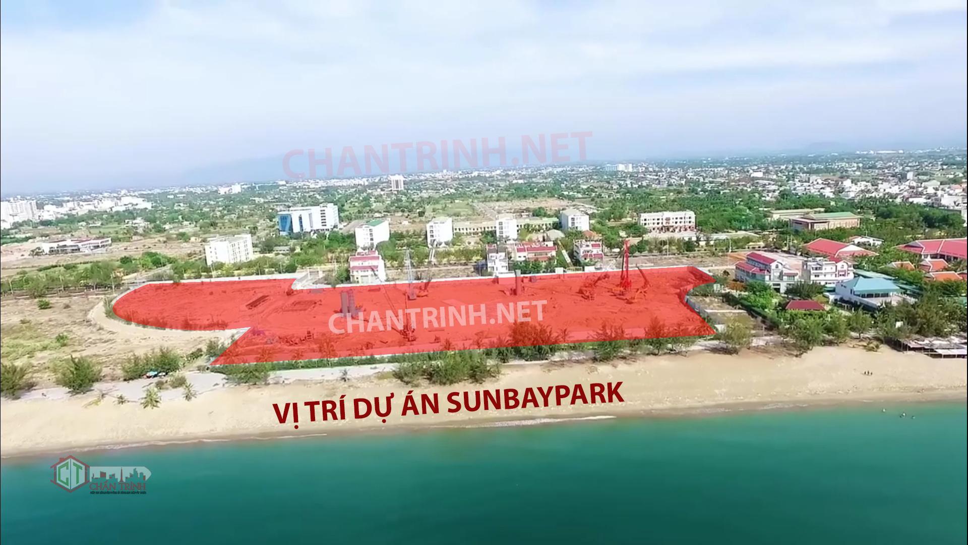 Thực tế xây dựng Sunbay Park mới nhất T6/2019 - Hướng từ biển nhìn vào trực diện dự án