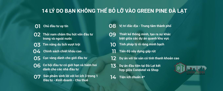 14 Lý do khách hàng không nên bỏ lỡ Green Pine Đà Lạt