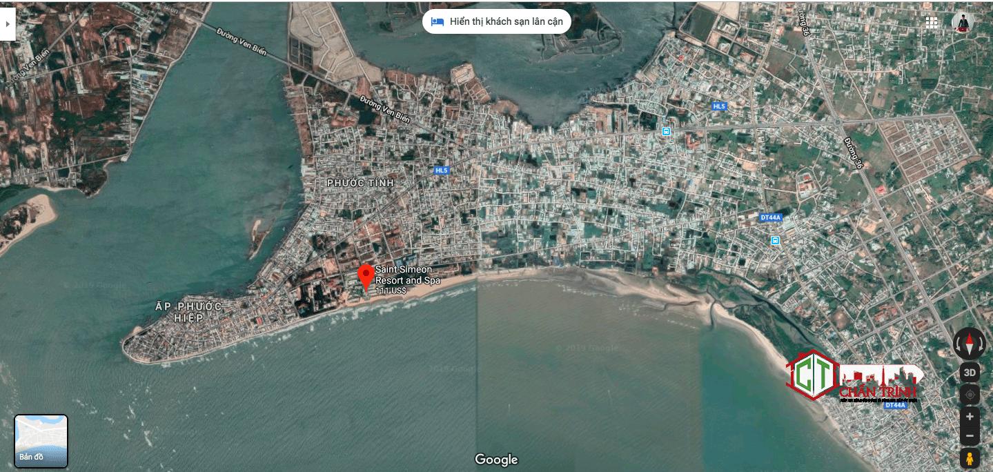 Maps thực tế dự án Saint Simeon Resort & Spa