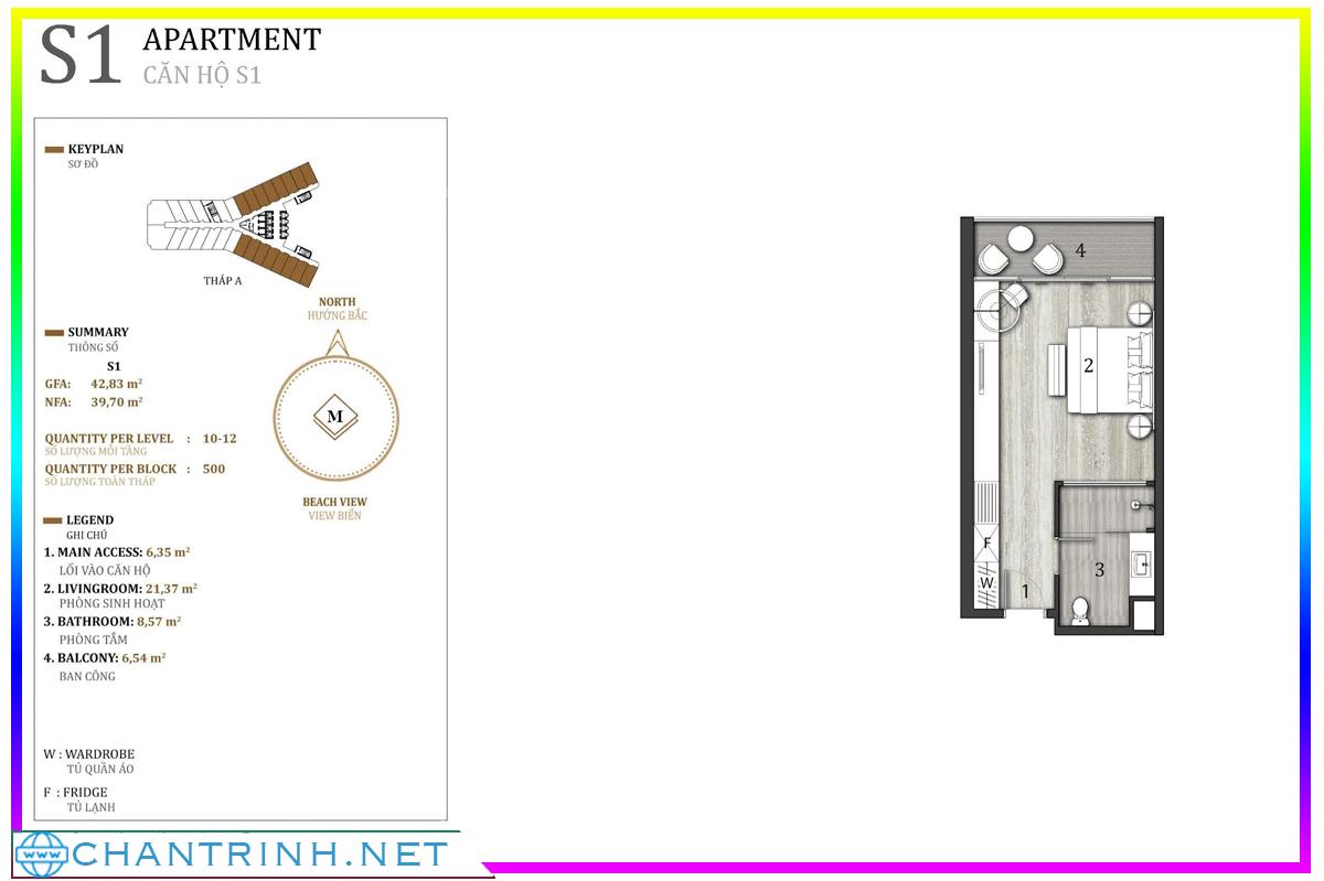 Mẫu thiết kế Studio của tòa A
