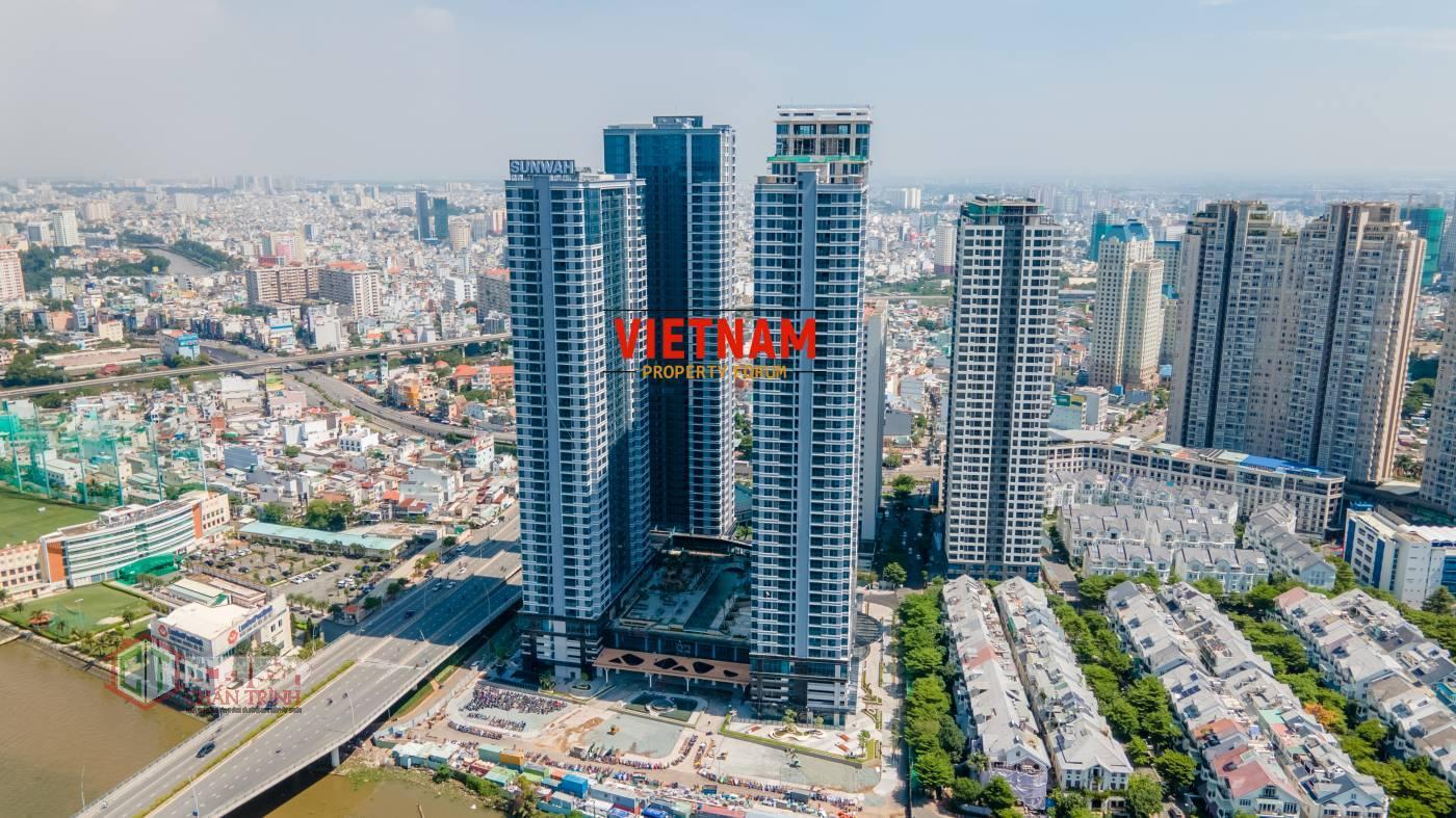 Hình thực tế căn hộ Sunwah Pearl - Nguồn : VNPF